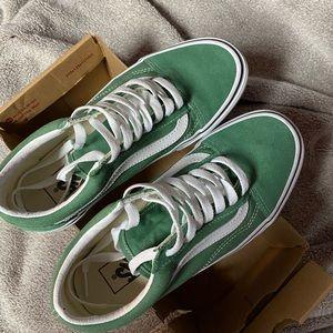 green old skool vans